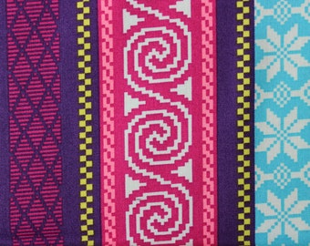 Heaven Helsinki by Patty Young for Micheal Miller - Fair Isle Stripes Purple Blue - Sold by the yard