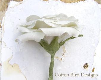 4th Wedding Anniversary Gift Long Stem Flower for Her Wife Girlfriend  Linen Flower by Cotton Bird Designs