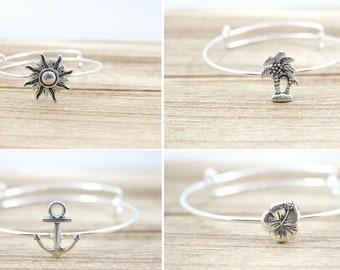 Soldered Charm Bangle (Various charms available)