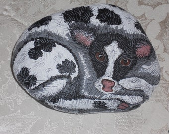 """Acrylic painted rock art titled """"Baby Calf"""""""