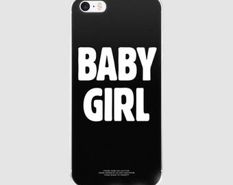 Word Series: Baby Girl Black iPhone Case, Art, iPhone, iPhone case, phone case, Typograhpy, Quote, Funny Quote