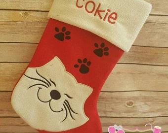 personalised dog christmas stocking personalized stocking