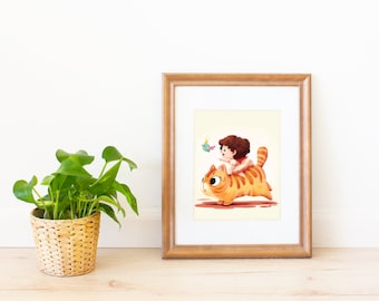 Fairy Adventure with the Meow Art Print
