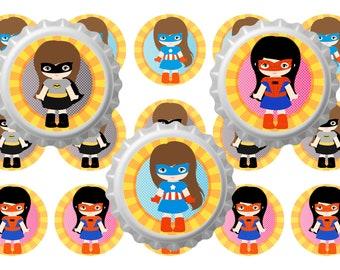 """BOTTLE CAPS superhero 1 """"Download Instantanes 6x4"""
