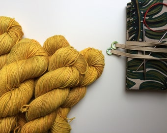 Per-order open for Hand dyed yarn 'New life' Blue Faced Leicester and silk 100g,  British Farmed UK