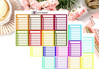 Weekly Check Boxes Planner Stickers