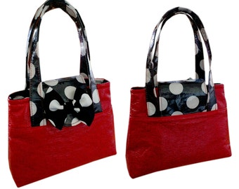 Hand bag for Girls, PDF Sewing Pattern, video instructions, pdf sewing pattern, hand bag, clutch bag, kids bag, small bag, child