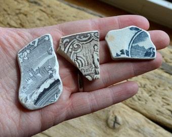PEOPLE TRIO   Scottish Sea Pottery Supplies (4427)