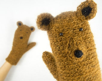 Bear Mittens / Gloves ~ Handmade