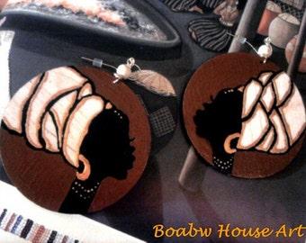 On & On Headwrap (Wood Grain) Earrings