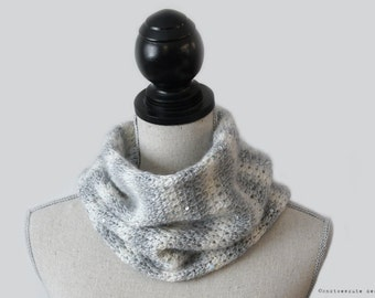 TUNISIAN CROCHET PATTERN - Morning Frost Cowl - Instant Download (pdf)
