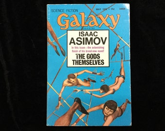 Science fiction GALAXY magazine May 1972 Isaac Asimov featured