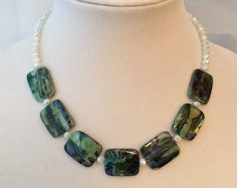 Necklace of Blue Jasper Stones