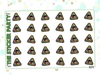 Billiards Planner Stickers Pool Planner Stickers 8-Ball Planner Stickers