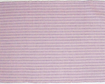 pale pink and purple placemat, handwoven
