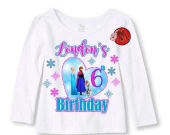 Frozen Birthday Shirt Long Sleeve Tee