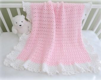 CROCHET PATTERN, Crochet Baby Blanket Pattern - Cherish Baby Blanket - EASY Crochet Pattern - Crochet Patterns by Deborah O'Leary
