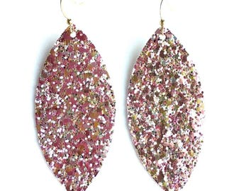Ballet Slipper Glitter Statement Earrings