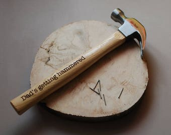Personalised Hammer - Birthday Gift - Dad Gift - Boyfriend Gift - Personalised Men - Woodworking Tools - DIY lovers gift - Engraved Tools