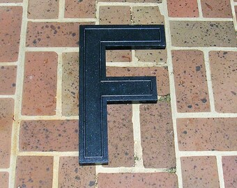 Huge Vintage Letter F Sign Vintage Marquee Letter F Hard Black Plastic F Sign 17 Inches Tall