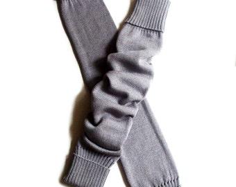 Women's Virgin wool long leg warmers/boot socks/knee high/yoga socks/leg wear