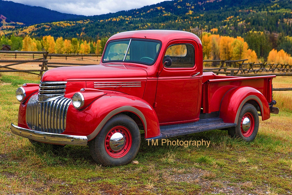 Old Red Chevroley Red Truck Red Chevy Old Chevy Classic