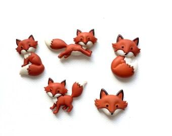 Fox Magnets, Cute Foxes, Red Fox, Forest Animals, Kawaii Fox, Fridge Magnets, Push Pins, Neodynium Magnets