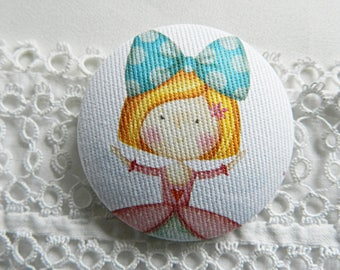 Fabric Button, Princess, 32mm / 1.25 in