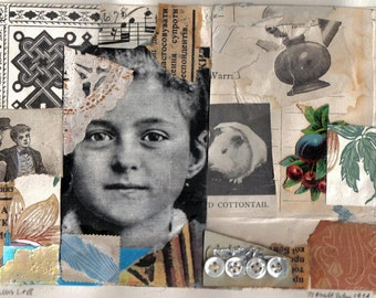 Genius Loci (St Theresa)..A Small Mixed Media Collage