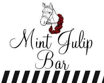 Kentucky Derby Mint Julep Party Welcome Sign, Printable Party Sign Decoration, Large sign, INSTANT DOWNLOAD