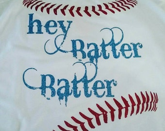 Hey Batter Batter Baseball Shirt, Baseball Mom Shirt, Baseball Shirt, Baseball Mom, Baseball Tank, Baseball Girlfriend, Softball Mom Shirt,