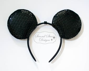 Mouse Ears Headband with Interchangeable Bows - Headband Only