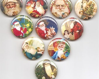 Father Christmas Set of 10 Pins Button Badge Pinback