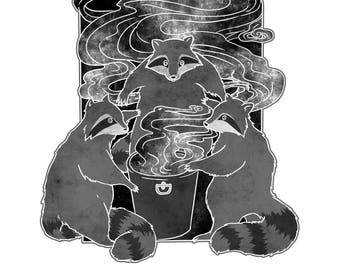 Occult Trash Raccoons Comic Book