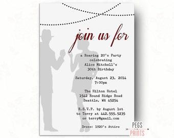 Printable 1920s Invitation // Great Gatsby Birthday Invitation // Great Gatsby Invitation // Roaring 20s Birthday Invitation // Speakeasy