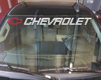 CHEVROLET Windshield Decal Silverado Window Sticker CHEVY 1500 2500 Vinyl Graphics