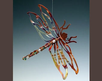 15% OFF - Holiday Ornament - Copper Dragonfly