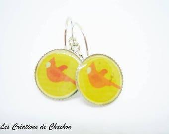 Frost earrings bird earrings