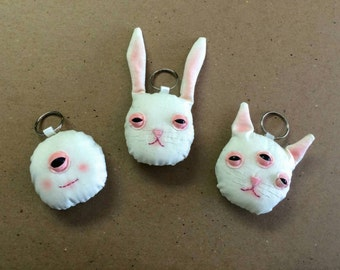 Odd Doll Creepy Face Keychain! ((Made to Order))