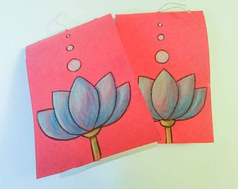 Lotus small notebook, pink