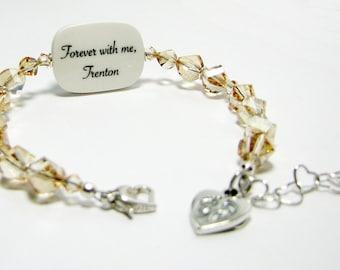 Custom Crystal Bracelet, Medium Photo Charm - P2RB13a
