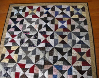 patchwork quilt, chair throw, hand quilted, gift for him, gift for her, housewarming, bed throw, country quilt. americana, primitive,