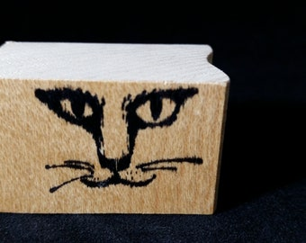 Cat Face Used Rubber stamp View all Photos