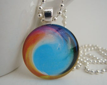 Wave Pendant with Free Necklace