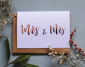 Mrs & Mrs - A6 Greeting Card