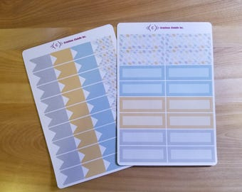 Planner - leaf Motif, stickers for Planner stickers