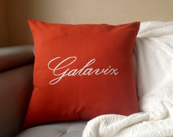 Wedding Gift 2017, Monogram Pillow Cover, Wedding Gifts 2017 for couples, Valentine Gifts for 2017, Decorative pillow cover
