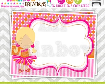 633 Food Labels: Tutus And Ties 4 Candy or Buffet Labels - Instant Downloadable File