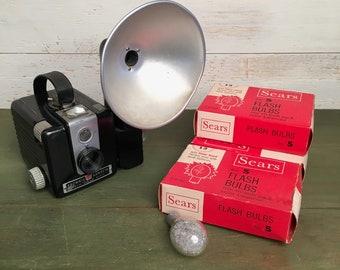 Kodak Brownie Hawkeye Flash Camera - With Flash and Flash Bulbs, Brownie Camera, 620 Camera, Medium Format Camera