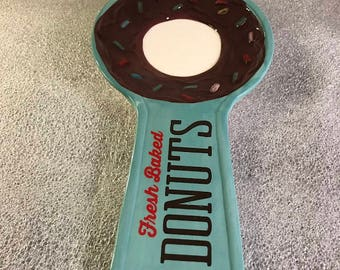Fresh Baked Donuts Teal Spoonrest